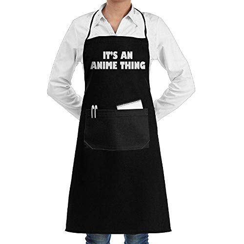 (Hipiyoled Grill Aprons Kitchen Chef Bib It's an Anime Thing Extra Long Adjustable Ties for Cooking,BBQ,Baking)