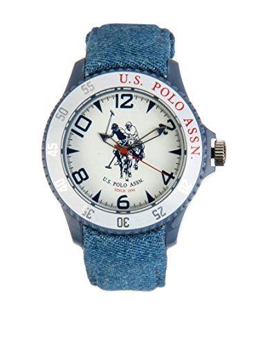 US Polo Association USP4280WH - Reloj Analógico Para Hombre, color Blanco/Marrón