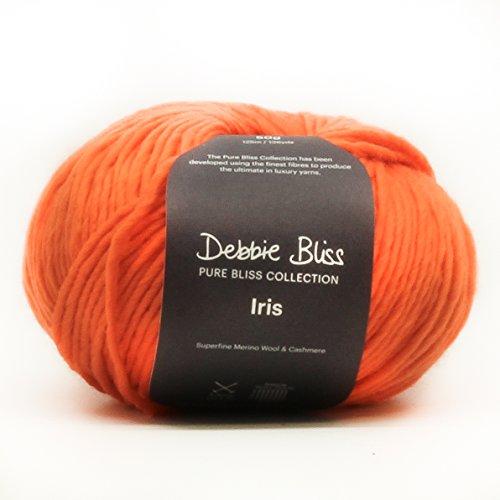 Debbie Bliss Iris Aran-Garn, besonders feine Merino-Kaschmir-Wolle, 05 Robin, 50 g -