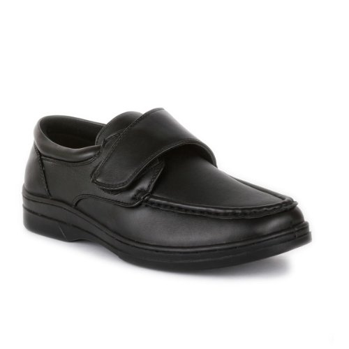 Hobos - Mens Casual Easy Fasten Shoe In Black - Size 9...