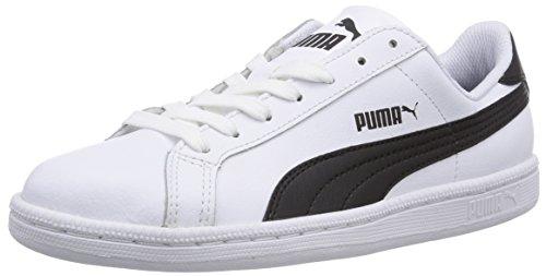 Puma Puma Smash Leather, Unisex-Erwachsene Sneaker, Weiß (white-black-white 11)/white-black 10, 46 EU (Top-herren-tennis-schuhe)