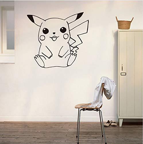 ytwww123 Wandtattoo Pokemon Gehen Wandaufkleber Für Kinderzimmer Dekoration Pikachu s Poster Fenster Aufkleber Tapete (Pikachu Junge Oder Ein Mädchen Ist Ein)