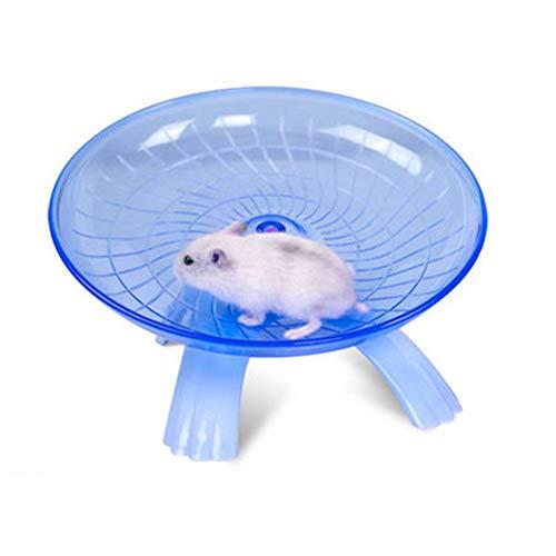 Fliyeong Premium Qualität Hamster Laufrad Scheibe Spielzeug für Syrische Hamster Gerbil Ratte Maus Chinchillas Meerschweinchen Eichhörnchen Kleintier Blau -