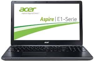 Acer Aspire E1-532-29554G50Mnkk 39,6 cm (15,6 Zoll) Notebook (Intel Celeron 2955U, 1,4GHz, 4GB RAM, 500GB HDD, Intel HD, DVD, kein Betriebssystem) matt-schwarz