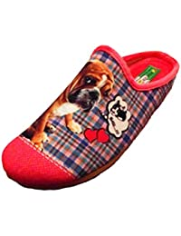 ALBEROLA Hausschuh Pantoffel Bulldogge A8682A Pink - EU 35-42 (41)