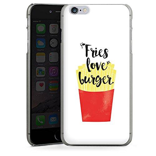 Apple iPhone X Silikon Hülle Case Schutzhülle Pommes Fastfood Burger Hard Case anthrazit-klar