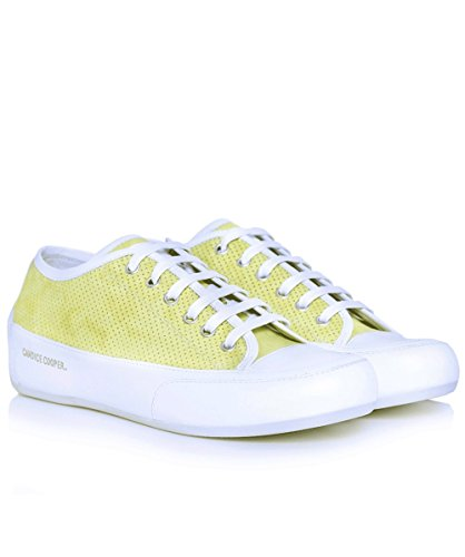 Candice Cooper Da Donna Rockbord Perforated Suede Trainers Limonel Limonel