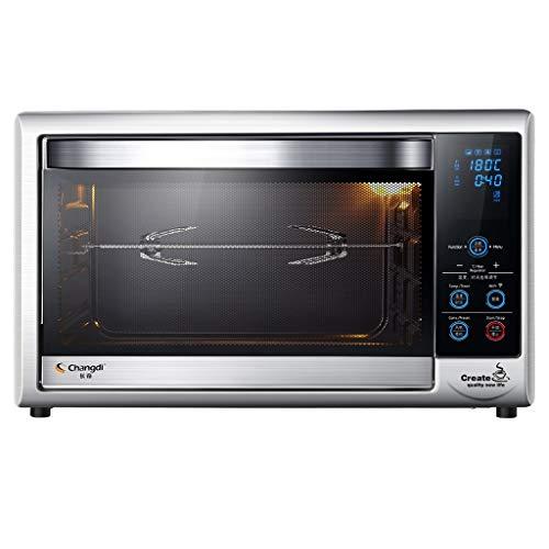 Unbekannt Elektrische Toaster-Öfen 52L, Arbeitsbereich mit Antihaftbeschichtung, Edelstahl und Grillplatte, Pizza-Röster-Konvektionsofen, Schwarz, Splitter -
