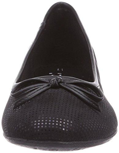 S.oliver - 22103, Ballerines Noires Pour Femmes (noir (noir 001))