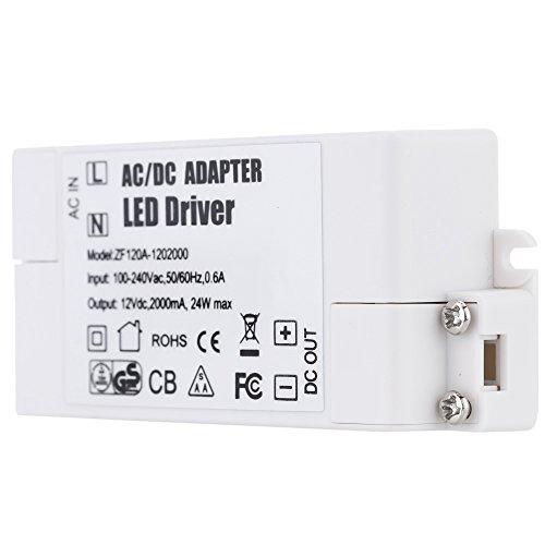 Preisvergleich Produktbild Generic AC 100-240V DC 12V 24W LED Licht Adapter Treiber Transformator für MR11 / G4 / MR16 / GU5.3 LED Lampen Weiß
