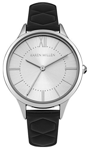 Karen Millen Womens Analogue Classic Quartz Watch with Leather Strap KM170B