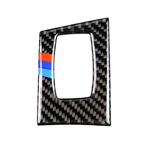 Morza Auto-Innendekor-Carbon-Faser-Start-Button Panel Trim Deckel Aufkleber replacemnt für BMW e90 e92 e93 - Button Panel