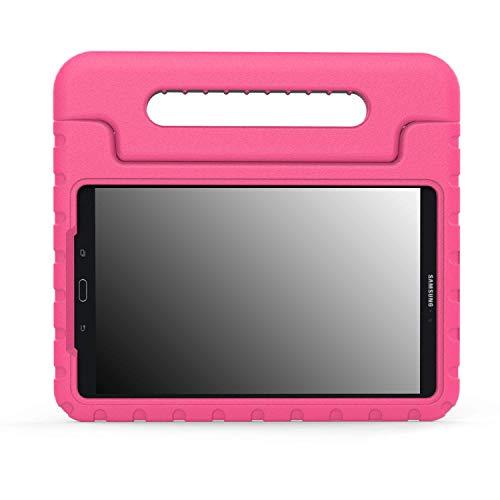MoKo Compatible con Samsung Galaxy Tab A 10.1 Funda - Ligero y super protective funda diseñar especialmente para los niños para Galaxy Tab A 10.1(SM-T580/T585, sin Lápiz), Magenta