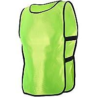 Gilet Calcio per Bambino 6pcs / 12pcs Sport Pinnies Calcio Pettorina per Allenamento di Pallacanestro / Calcio Esterna ( Colore : Fluorescent Green , dimensione : 12pcs )