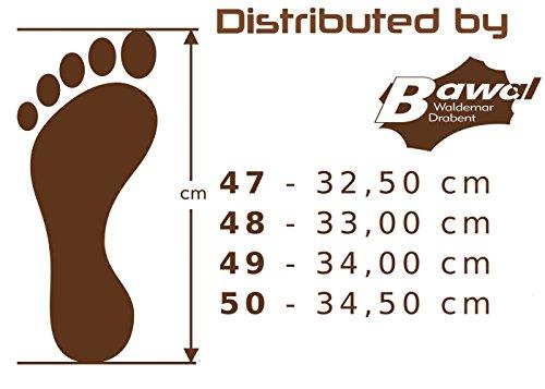 Big Size Pantoufles Pour Homme en Cuir Véritable Grandes Tailles 47 48 49 50 MZ06 Schwarz-Beige
