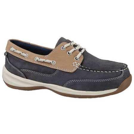 Rockport–rk670–8,5W–Frauen Boot Schuhe, Stahlkappe Typ, Obermaterial: Leder Material, navy blau/tan, Größe 8–1/2