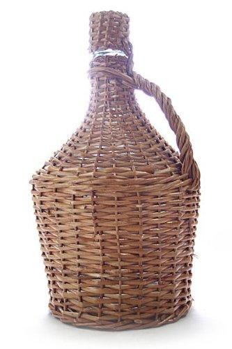 Glasballon im Weidenkorb ✿ 15 Liter Demijohn ✿ Extra robuste Glasflasche zum Lagern und Ansetzen