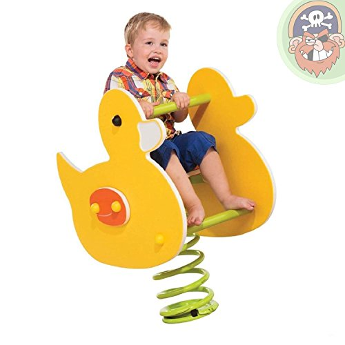 Gartenpirat Federwippe Wipptier Ente für Kinder EN1176 öffentlich