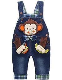 Peto Vaqueros Para Bebé Niños Niñas Azul Largo Lindo Mono Bajarita Pantalones Overall