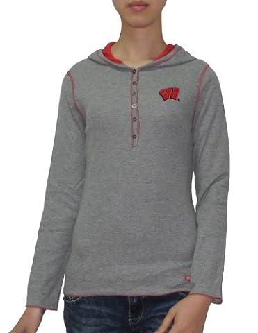 Slim Fit pull avec capuche T-shirt gris de L NCAA Wisconsin Badgers femmes