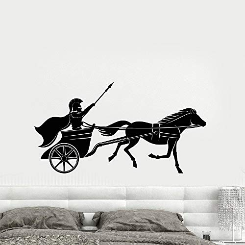 haotong11 Carro Guerrero Griego Antiguo su Vinilo Tatuajes de Pared decoración para el hogar Sala de Estar Mural Wallpaper Pegatinas de Pared 43 * 81 cm