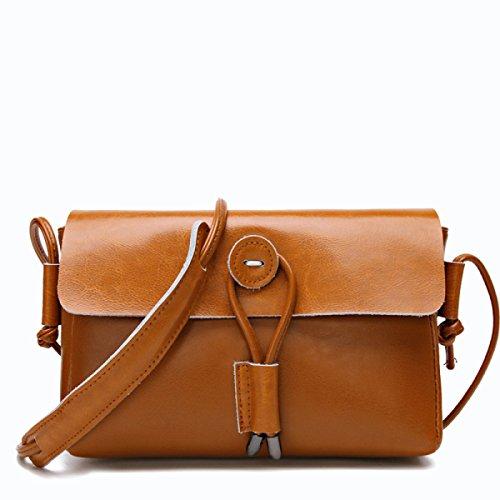 Retro Frauen Ledertasche Schulter Messenger Bag Tote Handtasche Kreuz Körper Tasche Mit Verstellbaren Schultergurt Brown