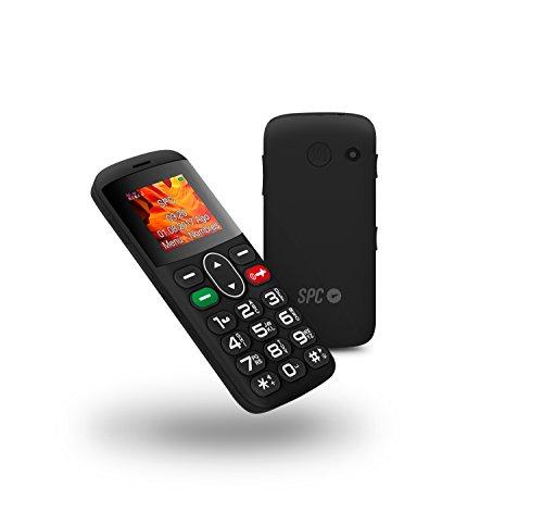 SPC Symphony - Teléfono móvil (Dual SIM, Número y Letras Grandes, 5 números SOS, Radio FM, Cámara), Negro