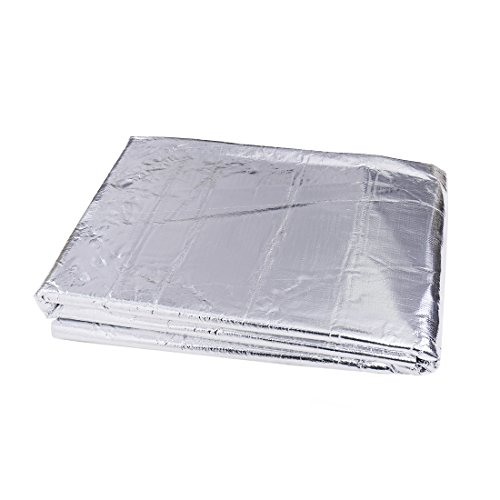 sourcingmap Coche Estera Laminada de Aluminio Intensivo Autoadhesiva PE Espuma 5mm de Espesor Aislante de Calor para Aislamiento Térmico y Acústico Colchoneta a Prueba de Sonido 60' x 40' Pulgadas