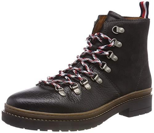 Tommy Hilfiger Herren Elevated Outdoor Hiking Combat Boots, Schwarz (Black 990), 41 EU (Boots Combat Herren)