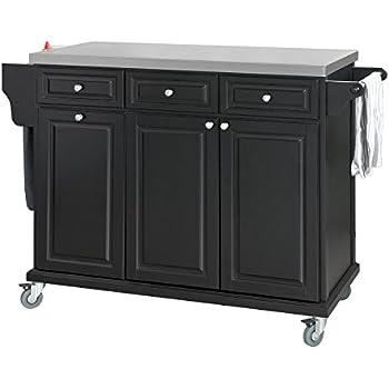 landhaus kesper k chenwagen mit abfalleimer weiss k che haushalt. Black Bedroom Furniture Sets. Home Design Ideas