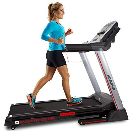 BH Fitness Marathoner Cinta de Correr, Adultos Unisex, Gris Oscuro, Talla Única