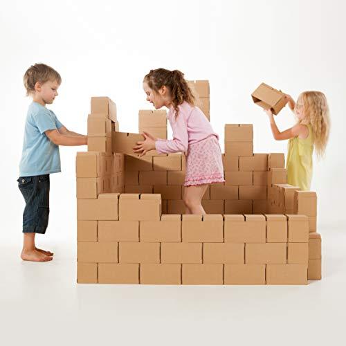 *GIGI Bloks XXL kartonbausteine 100 stück set, mit neuem verriegelungssystem, robust und einfach zu montieren*
