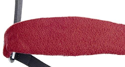 HKM Nylonhalfter mit weicher Polarfleece Polsterung, grau/weinrot, Warmblut