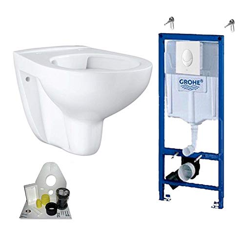 Grohe Vorwandelement mit Grohe WC spülrandlos mit Beschichtung, Komplett-Set -
