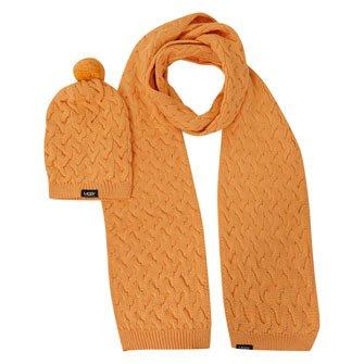 ugg-australia-scarf-beanie-winterset-inhalt-schal-und-mutze-farbe-u1261-orange-ideal-fur-kalte-winte