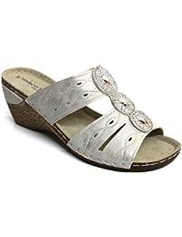 Marco Tozzi Femmes Mules Da.-Sandalette white 2-2-27503-26/100