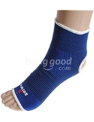 Moppi Deportes al aire libre en el tobillo elástico suave protector pad 1 par azules