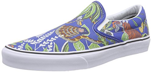 Vans Classic Slip-On Sneaker, Unisex Adulto, Blu (Disney/The Jungle Book/Classic Blue), 37