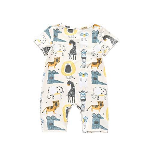 Knowin-baby body Ärmelloser Sommer Neugeborenen Baby Mädchen Jungen Dinosaurier Drucken Tiger Zebra Tier Body Strampler Overall Hose Romper Spielanzug Kleidung Outfit