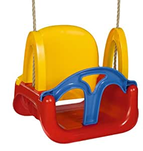 Amazing 3 in 1 Transforming Toddler Swing Seat - Red Yellow and Blue Baby Swing