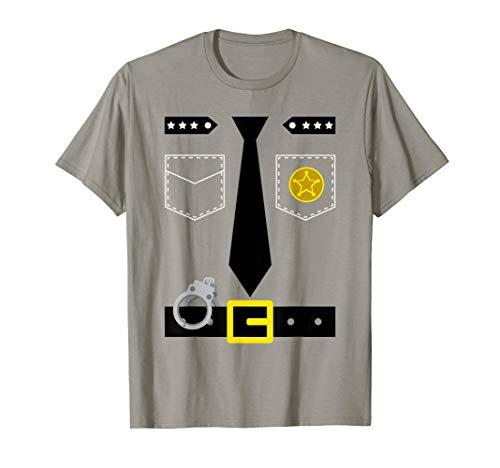 Einfache Väter Für Kostüm - Polizist Kostüm T Shirt Einfache Polizei Verkleidung Idee