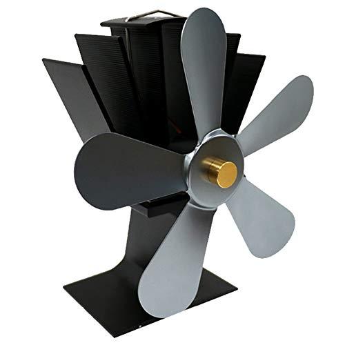 er Luftstrom mit 5 Flügeln, wärmebetrieben, Gas-Holz-Brenner, Küche, Kamin, Herd grau ()