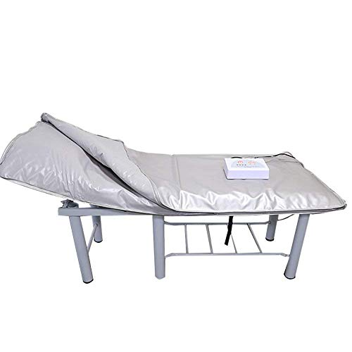 WRQ Far Infrarot Sauna Decke Karosserie Shaper Gewicht Verlust Sauna Abnehmen Decke Entgiftung Therapie Maschine für persönlich Spa lindert körperlich ermüden Silber -