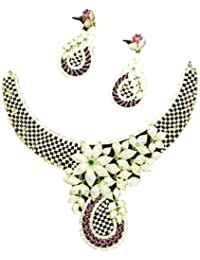 JH Fathima Fashions Multi Color Alloy Necklace Set For Women