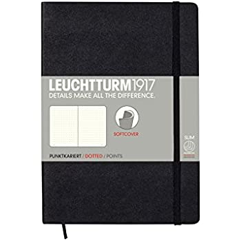 LEUCHTTURM1917 324804 Notebook Softcover Medium (A5), dotted, black