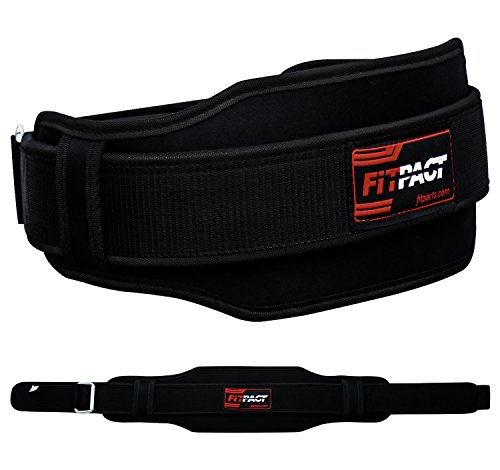 FITPACT-Gym-Weight-Lifting-Belt-Neoprene-Back-Workout-Fitness-Exercise-Bodybuilding-Back-Support-Black-M