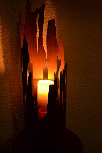 Gartenstecker Feuertopf-Feuersäule mit Brenngel- moderner Gartenstecker Feuerkorb - Höhe 120-130 cm -hochwertig, sehr stabile Ausführung, witterungsbeständig