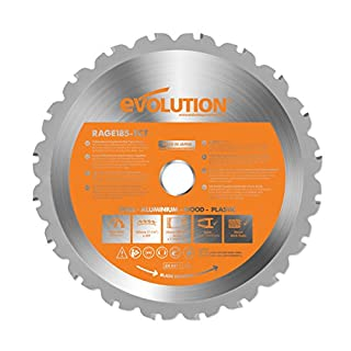 Evolution Power Tools RAGE Multi-Purpose Carbide-Tipped Blade, 185 mm