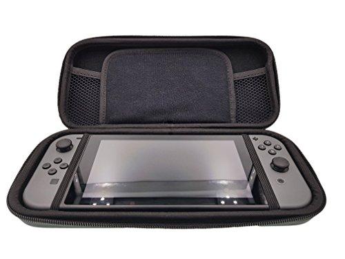 Play and Carry Bag - Tasche passend für Nintendo Switch inkl. Panzerglas Tempered Glass Screen Protector - Hersteller 2-TECH