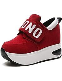HHXWU Zapatos Zapatos de Mujer Zapatos Casuales aumentados Dentro de  Grueso 65f390d16c7